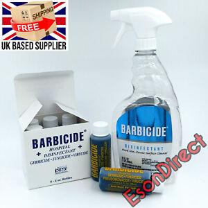 BARBICIDE Hospital 6x59ml/2oz Refills + Spray Bottle Salons Barbers Hairdressers