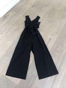 Gorgeous Black J Crew Cropped Wide Legged Jumpsuit BNWT Size 00