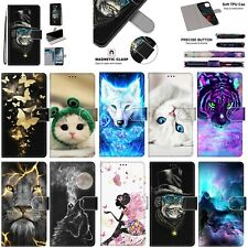 For Nokia X5 6.1 4.2 2.2 2.1 Moto G7 E5 Patterns Leather Wallet Stand Case Cover