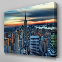 C149 New York City Skyline Canvas Wall Art Ready to Hang Picture Print