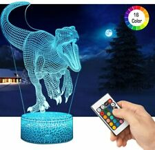 3D Dinosaur LED Night Light with Remote Control Gifts Toys Decor 16 Colours NEW