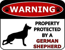 Property Protected by Beware of Warning Dog Signs