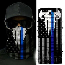 Police Appreciation Face Shield Mask Blue Punisher Balaclava Neck Gaiter Fishing