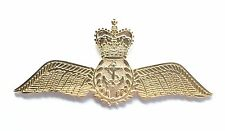 Royal Navy Pilot Wing Military Sweetheart Gold Finished Pin Badge MOD Approved