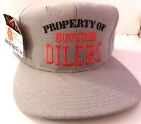 Property of Houston Oilers 1980s New Era Cap Unworn NOS Licensed