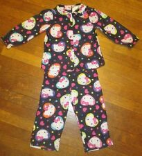 Girl's Hello Kitty Sanrio Pajamas 4T 2 piece button front PJs