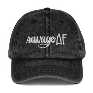 Womens Mom Savage AF Motivational Embroidered Vintage Hat Cap Clothing Gift