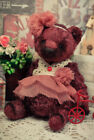 Artist teddy bear, antique bear, vintage bear, dusty-rose bear, 5in, ooak bear