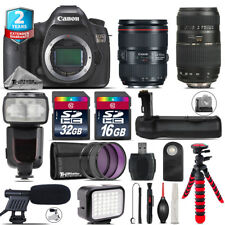 Canon EOS 5DS DSLR + 24-105mm 4L IS II + 70-300mm + LED + Pro Flash + 48GB Kit