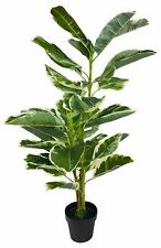 Artificial Rubber Ficus Tree Plant Large 110cm Realistic Potted Indoor Outdoor