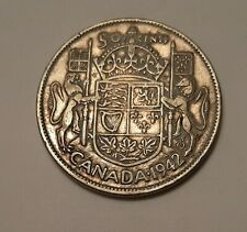 1942 Canada 50 Cents Coin (80% Silver) - King George VI