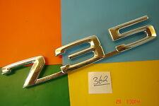 GENUINE 1977>86 BMW 7 SERIES 735 SILVER ALUMINIUM REAR BADGE EMBLEM. 51141869986