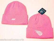 Tennessee Titans NFL Reebok Pink Knit Hat Cap Breast Cancer Beanie Womens Girls