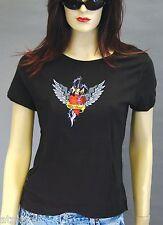 T-Shirt femme MC WILD HEART - Taille L - Style BIKER HARLEY