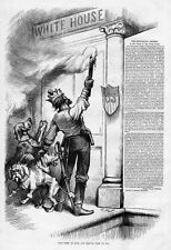 DOGS, THOMAS NAST SOUTHERN CLAIMS, COMMUNISM, REVOLUTION, SWORD, WHITE HOUSE DOG
