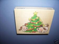 PENNY BLACK RUBBER STAMPS XMAS JOY DOG CHRISTMAS STAMP
