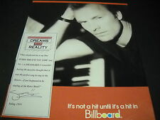 STING 1991 Promo Display Ad with BATES MOTEL shower reference MINT CONDITION