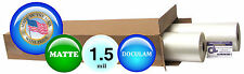 "Doculam Hot Laminating Film 27"" x 500' on 1"" core 1.5 Mil ( 2 Rolls ) Matte"