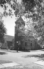 Linton Indiana birds eye view First Methodist Church real photo pc Y11166