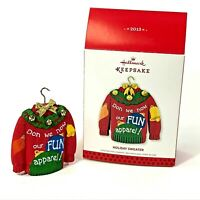 Hallmark Keepsake Christmas Ornament 2013 Holiday Sweater