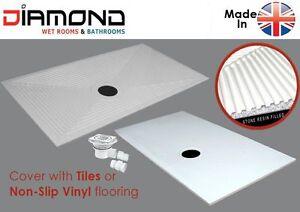 Diamond WetRoom D5 1350x850 Stone Shower Tray Wet Floor Former inc. FREE Waste