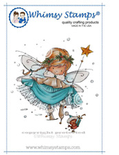 WHIMSY STAMPS - ELSA THE FAIRY - RUBBER STAMP MOUNTED ON CLING CUSHION FOAM