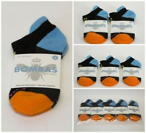 Bombas Black and Orange Women's Ankle Socks Size Small 1/ 2/ 3/ 5 Pairs NWT