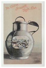 Jersey postcard - Ye Olde Jersey Milk Can (Shipping Jersey Cattle) - Novelty