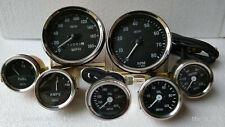 "Smiths Replica Gauges Kit 2"" Temp F+Oil + Fuel+ Amp Gauge+ 4"" Speedometer+Tacho"