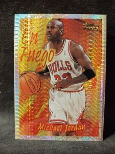 1996-97 Topps Chrome #SB1  Season's Best En Fuego Michael Jordan #SB1