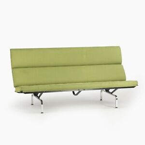2006 Herman Miller by Ray and Charles Eames Sofa Compact Green Fabric Upholstery