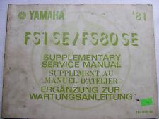 YAMAHA FS1 SE / FS80 SE Handbuch Wartungsanleitung Ergänzung  Art. 5A1-28197-80