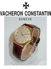 18K GOLD VACHERON & CONSTANTIN CENTER SECONDS CALIBER P454/5B SILVER STICK WATCH