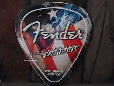 *METAL DECOR* FENDER GUITAR PICK music wall art tin poster stratocaster shop amp