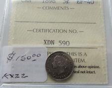 Canada 1898 5 Cents Silver  Graded ICCS EF 40 Semi Key Date