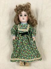 """Antique 12"""" German doll bisque head composition body sleep eyes open mouth teeth"""