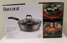Baccarat Gourmet 20cm S/Steel 4 Cup Egg Poacher With Lid Induction Safe RRP $99