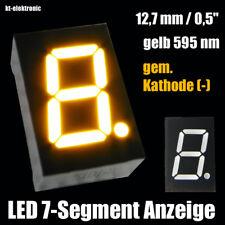 "3 Stück LED 7-Segment Ziffernanzeige 12,7mm 0,5"" gelb 595nm gem. Kathode (-)"