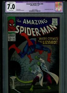 THE AMAZING SPIDER-MAN # 44 MARVEL 1967 CGC 7.0 RESTORED 2ND LIZARD APPEARANCE