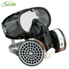 Anti-Dust Filter Mask Respirator Gas Safety Chemical Military Eye Goggle Set