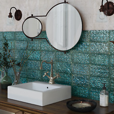 Baroque Esmerelda Green Gloss Metro Porcelain Decor Wall & Floor Tiles