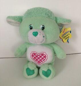 "Care Bear Cousins Gentle Heart Lamb 2004 Light Green Plush Stuffed Animal 8"""