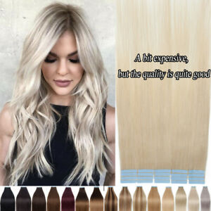 Balayage Blonde 100% Real Remy Human Hair Extensions Tape In 150g/60pcs THICK 8A