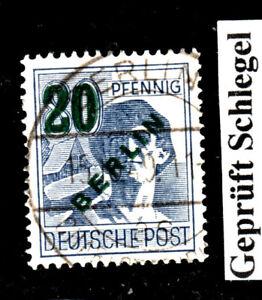 BERLIN 1949 MiNr.66 Grünaufdr.20 geprüftSCHEGEL VOLLSTEMPEL CHARLOTTENBURG 2 as