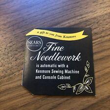 VINTAGE - Sears Fine Needlework Sewing Needles VINTAGE Original - SEW AD MACHINE