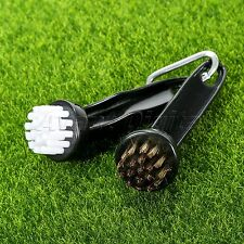2 Pcs Golf Club Brushes Cleaning Putter Iron New Wood Bristle Plastic Handle