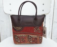 BNWT Liz Cox Carpet Tapestry Leather Handbag Tote Grab Bag Small women ladies