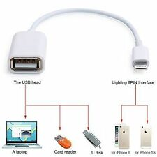 UK Lightning 8 Pin to USB OTG Cable Camera Adapter Connector for iPad 4/Mini/Air