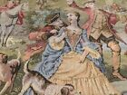 Antique Tapestry French Aubusson Style Pastoral Wall Hanging Never Mounted