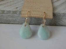 EARRINGS ANTHROPOLOGIE BLUE GREEN RESIN MINI CRYSTAL HOOK UNIQUE SHAPE NEW $38